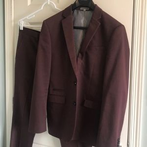 Men's rust colored suit Express